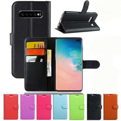 Samsung Galaxy S10 S9 S8 Plus S10E Note 8 9 10 + Wallet Leather Flip Case Cover