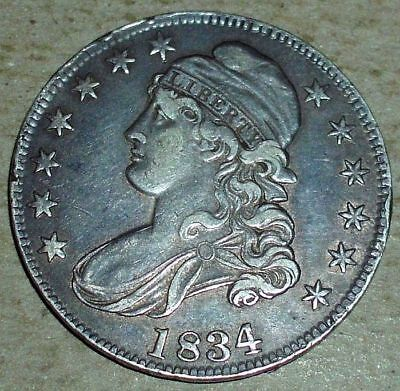 1834 Silver Capped Bust Half Dollar