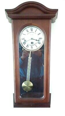 Wm. Widdop 8 day Westminster Mechanical Pendulum & Key Wall Clock