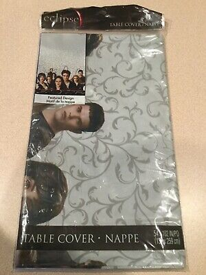 """Hallmark Party Express Twilight Eclipse Plastic Table Covers 54/"""" x 102/"""" NEW"""