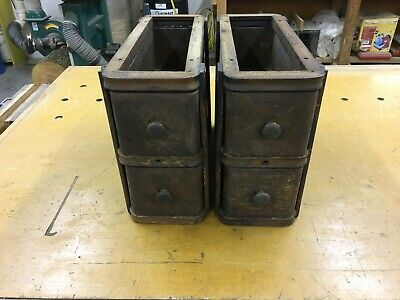 Antique Vintage SINGER Sewing Machine TREADLE Cabinet Wood Drawers W/Frames