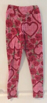 Lularoe Tween Leggings Valentines Hearts And Roses Buttery Soft