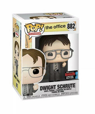 Funko POP! The Office Dwight Schrute NYCC 2019 Shared Exclusive In Protector