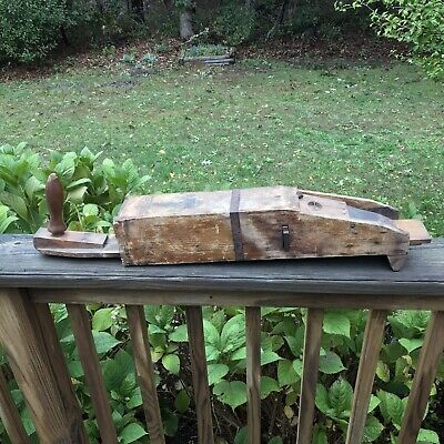 Antique Primitive Wakefield's Hand Corn Planter Seeder Wooden Garden Farm Tool
