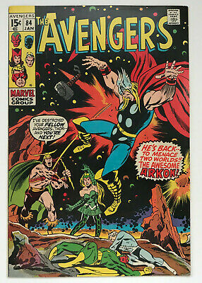 The Avengers #84 - Awesome Arkon Thor Vision Black Panther Marvel Comics VF