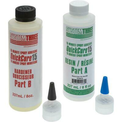 System Three T30580 Quick Cure 15-Minute Epoxy Adhesive Kit, 1 Pint