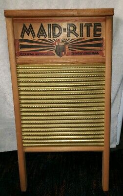 Nice Vintage Maid-Rite No. 2062 Wash Board Columbus Washboard Co. Family Size