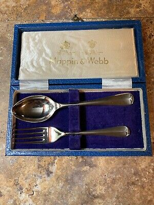 mappin webb sterling silver Wedding Fork & Spoon..very Old Excellent Condition