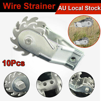 10x Wire Strainer Ratchet Rope Fencing Tensioner Fence Energiser Tension Steel