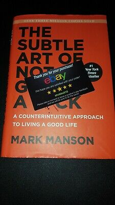 The Subtle Art of Not Giving a F*ck by Mark Manson A Counterintuitive New!!