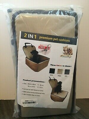 Pet Seat Cover for Dogs, 2 in 1 Pet Booster Seat Premium Padded Waterproof Beige