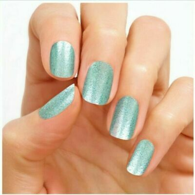 NEW Color Street 100% Nail-Polish Strips Mint to Be (glitter) RETIRED