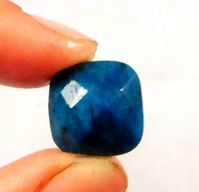 Dyed Faceted Blue Sapphire Gemstone 5 ct 11x11mm W463