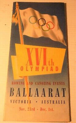 1956 Olympic programme for rowing Ballarat