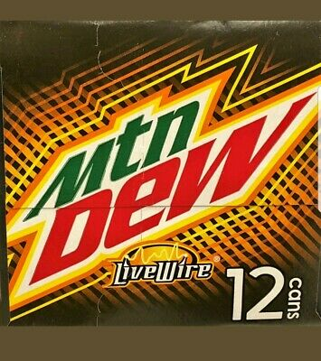 1x 12oz 12 pk Mountain Dew LiveWire cans 12 pack Mtn Dew