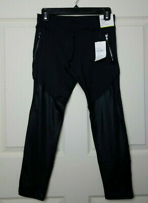 Old Navy Active Girls Leggings Athletic Black Go Dry Size L (10/12) Plus NWT
