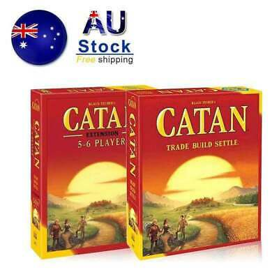 CATAN Settlers Base Game and 5-6 Expansion Pack Social Fantastic Board Game