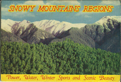 Postcard View Folder - Snowy Mountains Regions, NSW, Australia - 1960's