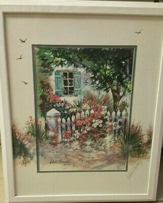 """H. Andre Blanche Watercolor Painting, Singed, Framed, 18.25"""" x 22.25"""""""