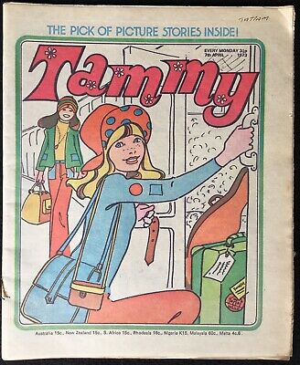 TAMMY - 1973, April, New Seekers, Trina, Beth, B&W, Fleetway, GB, VF