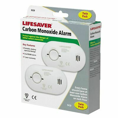 Kidde Lifesaver Carbon Monoxide Alarm 5CO Twin Pack New in box, Free postage.