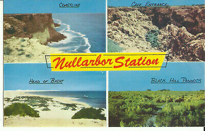 Australia Postcard - Multiview, Nullarbor Plains, Australia - 1960's
