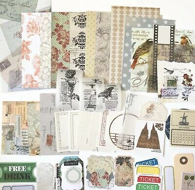 Vintage Junk Journal Pack, Bits And Pieces Pack, Mini Kit