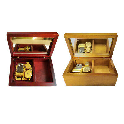Wooden Jewelry Music Box Retro Exquisite Handmade Art Crafts Festive Gift