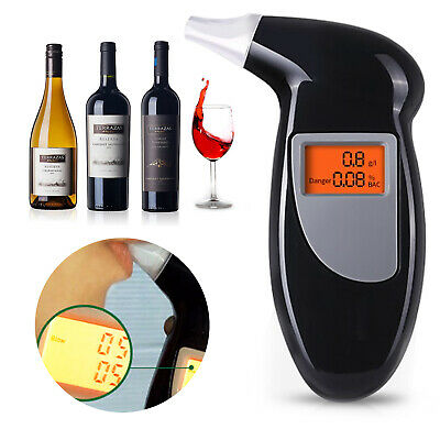 Police Breath Alcohol Tester Self Digital Analyzer Detector Breathalyser New UK