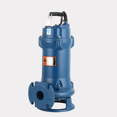 New 220V 1HP 750W 5.1A Sewage Cutter Grinder Cast iron Submersible Sump Pump