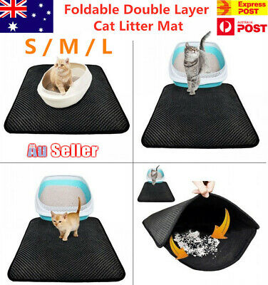 Waterproof Double Layer Cat Litter Mat Trapper Foldable Pad Pet Rug Home NEW