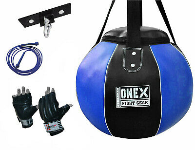 Boxing Punch Bag Round Hanging Heavy Filled Duty Punching MMA Training Kick Pad