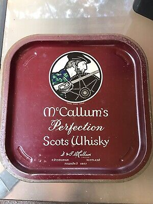McCULLUMS SCOTS WHISKY METAL BAR SERVING TRAY