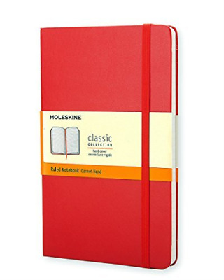 Moleskine-Classic Red Notebook Ruled Pocket BOOK NEW
