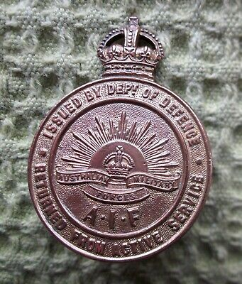 AIF Returned From Active Service Badge by Stokes - World War 1