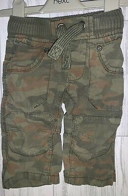 Boys Age 3-6 Months - Next Camouflage Cargo Trousers