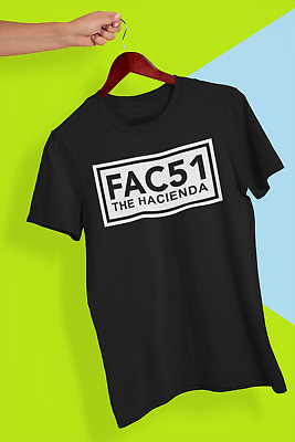Hacienda FAC51 Factory Records Rave House 90s music T shirt