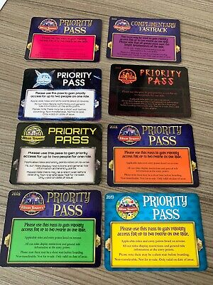 Alton Towers Fastrack Priority Pass x8