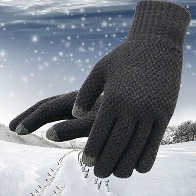 Thick Mens Winter Gloves Cold Weather Knit Gloves Thermal Mittens Unique Gloves