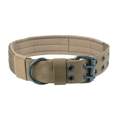 Tactical Heavy Duty Dog Collar  Adjustable Dog Collar with Metal D Ring & Buckle
