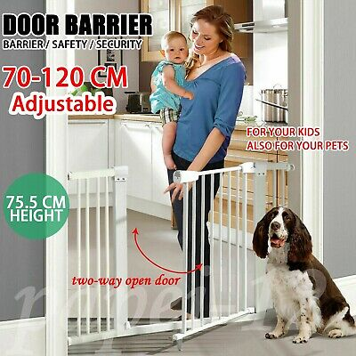 75cm Tall Adjustable Wide Baby Child Pet Safety Security Gate Stair Barrier Door