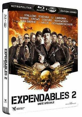 Expendables 2 Steelbook Blu Ray + Dvd  Neuf Sous Cellophane