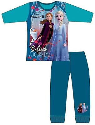 Official Frozen 2 Girls Pyjamas Disney Anna Elsa Pjs Sleepwear Age 4 to 10 Years