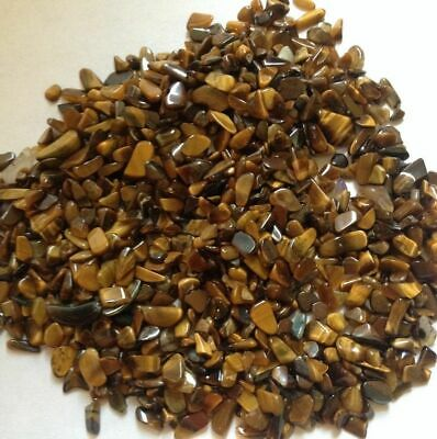 Loose Tigers Eye Gemstone Chippings - NO HOLE - Jewellery Making, 10,20,30,40,50