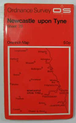 1972 Old OS Ordnance Survey Seventh Series One-Inch Map 78 Newcastle-upon-Tyne