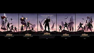 Set of 5 ODEON AVENGERS Movie Poster Canvas Picture Art Print Premium Quality