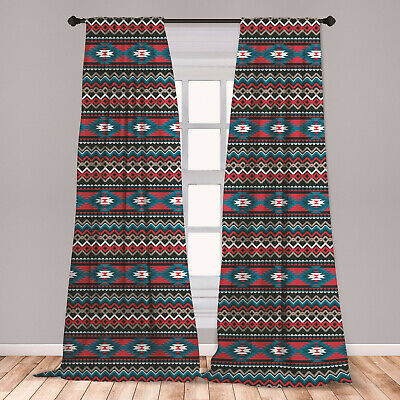 Antique Microfiber Curtains 2 Panel Set Living Room Bedroom in 3 Sizes
