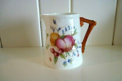 Very Pretty Antique Bone China Jug By Royal Worcester Hand Painted