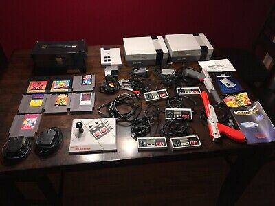 Vintage Nintendo System Console Game Controller Lot NES-001