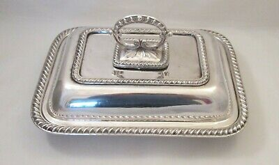 A Good Silver Plated Serving Tureen / Dish by John Round c1900